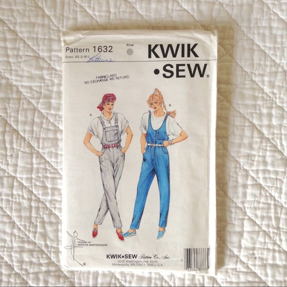 Vintage Overall Sewing Pattern (Unopened)